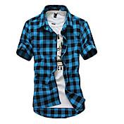 Men's Weekend Beach Cotton Slim Shirt - P...