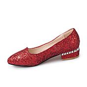 Mujer-Tacón Plano-Zapatos del club-Bailarinas-Oficina y Trabajo Vestido Fiesta y Noche-Sintético-Dorado Plata Rojo
