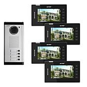 Actop 7 pulgadas de vídeo en color con cable de metal los mejores sistemas para los edificios de productos de seguridad