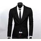 Men's Business Formal Slim Blazer-Solid C...