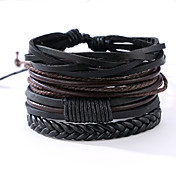 Herr Läder Armband - Läder Vintage, Punk ...