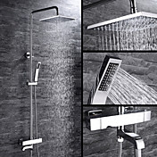 Shower Faucet - Contemporary Chrome Cente...