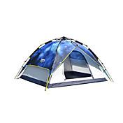 3 a 4 Personas Tienda Doble Carpa para camping Tienda de Campaña Automática Impermeable 2000-3000 mm para Camping CM Una Habitación Oxford