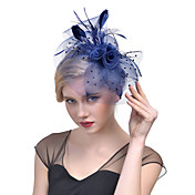 Tulle Feather Net Fascinators Headwear wi...