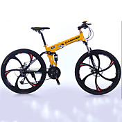 Bicicleta de Montaña Bicicletas plegables Ciclismo 27 Velocidad 26 pulgadas/700CC 50mm Hombre Unisex Adulto Shimano Doble Disco de Freno
