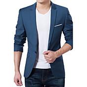 Men's Slim Blazer - Solid Colored