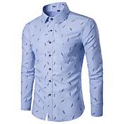 Men's Slim Shirt - Geometric Print Classi...