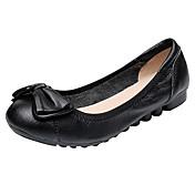 Mujer Zapatos de taco bajo y Slip-Ons Confort Bailarina Suelas con luz Cuero real Cuero Cuero de Napa Primavera Verano Casual Paseo