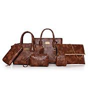 Women's Bags PU(Polyurethane) Bag Set 6 P...