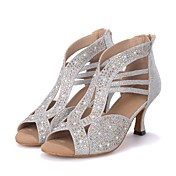 Women's Latin Shoes Sparkling Glitter San...