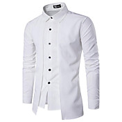 Men's Chinoiserie Cotton Slim Shirt - Sol...