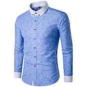 Men's Cotton Slim Shirt Print Button Down...