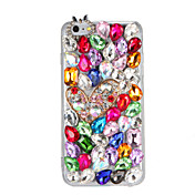 Til rhinestone diy taske bagcover case glitter shine 3d tegneserie hard pc til Apple iPhone 7 7 plus 6s 6 plus se 5s 5