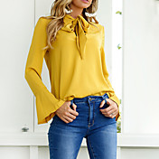 Women's Cute Cotton Shirt - Solid Colored