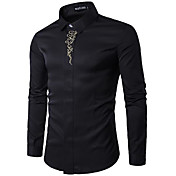 Men's Cotton Shirt - Solid Colored Print ...