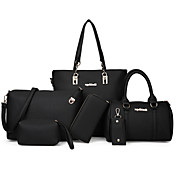 Women's Bags PU Bag Set 6 Pieces Purse Se...