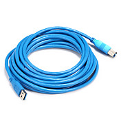 USB 3.0 Cable, USB 3.0 to USB 3.0 USB tipo B Cable Macho - Macho 5,0 m (16 pies)