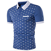 Men's Cotton Shirt - Solid Colored Polka ...