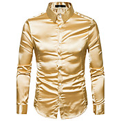 Men's Street chic Slim Shirt - Solid Colored