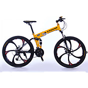 Bicicleta de Montaña Bicicletas plegables Ciclismo 27 Velocidad 26 pulgadas/700CC Shimano Aceite para Frenos de DiscoHorquilla de