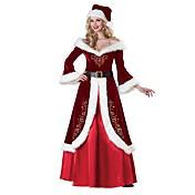 Santa Suit Mrs.Claus Dress Costume Women'...