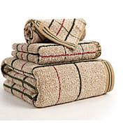 Superior Quality Bath Towel Set, Plaid / ...