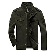 Men's Basic Jacket - Solid Colored Stand