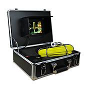 """endoscopio sistema de inspección de tuberías 7"""" 30m alcantarilla cámara impermeable con 12 llevó luces"""