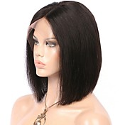Human Hair Lace Front Wig Straight 130% D...