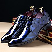 Men's Printed Oxfords Patent Leather Fall...
