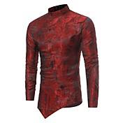 Men's Slim Shirt - Solid Colored Jacquard...