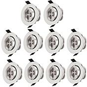 10pcs 3W 300lm 3 LEDs Easy Install Recess...