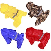Dog Rain Coat Dog Clothes Solid Colored Y...