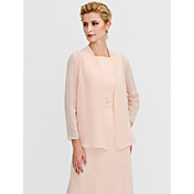 Long Sleeves Chiffon Wedding Party / Even...