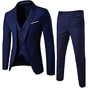 Men's Street chic Slim Suits - Solid Colo...