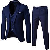 Men's Street chic Cotton Slim Suits - Sol...