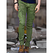 Men's Military Punk & Gothic Cotton Slim ...