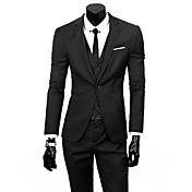 Men's Business Formal Slim Suits-Solid Co...