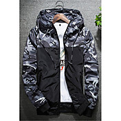 Men's Active Plus Size Jacket - Camouflag...