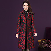 Women's Sophisticated Plus Size Trench Co...