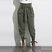 Women's Street chic Chinos Pants - Solid ...