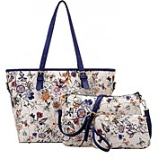 Women's Bags Polyester / PU Bag Set 3 Pcs...