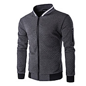 Men's Long Sleeves Sweatshirt - Solid Col...