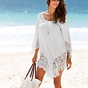 Women's Boho Cover-Up - Solid Colored, Tassel