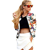 Women's Street chic Jacket-Floral