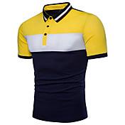 Men's Street chic Cotton Polo - Color Blo...