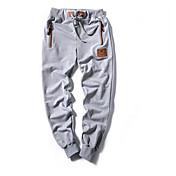 Men's Cotton Linen Harem Pants - Solid Co...