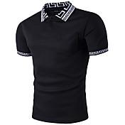 Men's Polo - Color Block Shirt Collar