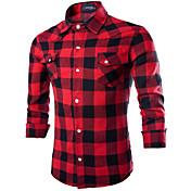 Men's Shirt - Plaid Classic Collar
