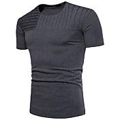 Men's Cotton T-shirt - Solid Colored, Pat...